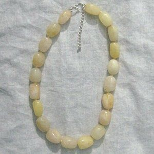 Sterling Silver Agate Stone Necklace